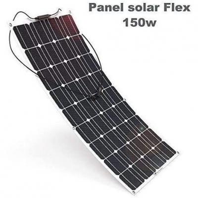 Placa Solar Flexible 150w Monocrystalline 12v Panel Solar Flex 150w Ideal para Autocaravana