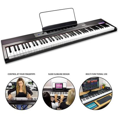 RockJam de 88 teclas del teclado de piano para principiantes Digital Piano con Full-Size Semi-Weighted Keys
